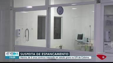 Criança é internada com sinais de violência em Linhares, no Norte do ES - Assista a seguir.
