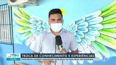 Em Santarém, voluntários da Casa Azul recebem capacitação para atuar na instituição - Treinamento proporcionou a troca de conhecimento e experiências.