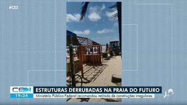 Ministério Público Federal determina retirada de estruturas na Praia do Futuro - Confira mais notícias em g1.globo.com/ce
