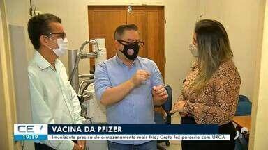 Crato se prepara para receber vacinas da Pfizer - Confira mais notícias em g1.globo.com/ce