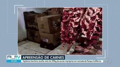 Fiscalização em Campos, RJ, apreende mais de 390kg de carnes impróprias para consumo - Apreensão foi feita pela Vigilância Sanitária em um mercado do Parque Califórnia.