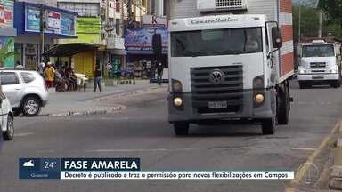 Campos, RJ, publica decreto com novas flexibilizações - O decreto com as medidas foi publicado no Diário Oficial e flexibiliza uma série de atividades.