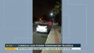 Rachas têm sido comuns em cidades dos Campos Gerais - Prática é proibida e extremamente perigosa