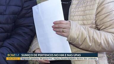 Pertences de pacientes internados em Foz do Iguaçu somem de hospital e UPAs - Famílias registraram boletim de ocorrência