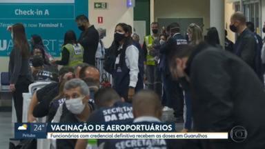 SP começa a vacinar contra Covid aeroviários e pessoas de 40 a 44 anos com comorbidades - Grupo de 40 a 44 anos com comorbidades ou deficiência permanente (beneficiários do BPC) é formado por 760 mil pessoas, segundo estimativa do governo do estado. Já no aeroporto de Guarulhos serão vacinadas mais 27 mil pessoas.
