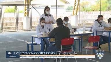 Registro inicia programa municipal de testagem da população contra a Covid-19 - Ação é para monitorar a doença e ajustar as medidas de combate.