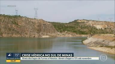 Reservatórios no Sul do estado estão com níveis baixos - A crise hídrica atingiu os lagos de Furnas e Peixotos que abastecem a usina de Mascarenhas de Moraes.