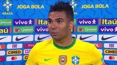 """Casemiro, sobre a Copa América: """"Todo mundo sabe qual é o nosso posicionamento"""" - Casemiro, sobre a Copa América: """"Todo mundo sabe qual é o nosso posicionamento"""""""