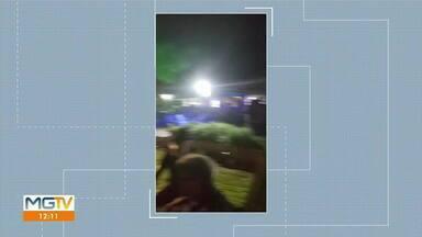 Vídeo mostra aglomeração durante festa na fazendo do prefeito de Coroaci - Município já registrou 406 casos e 16 mortes em decorrência da doença.