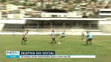 Atletas fazem seletiva para entrar no Social - Trinta vagas estavam sendo disputadas.