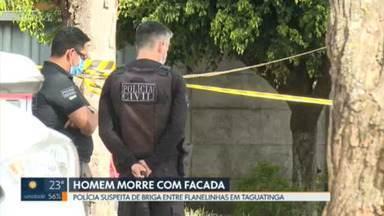 Polícia investiga dois homicídios que aconteceram no domingo - Um homem foi morto com um tiro durante uma festa clandestina no Sol Nascente. E um outro crime foi em Taguatinga, onde um homem levou uma facada na barriga. Nesse caso, a polícia suspeita de uma briga entre flanelinhas.