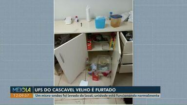 Unidade de saúde do bairro Cascavel Velho é furtada - Um micro-ondas foi levado do local; UBS está funcionando normalmente.