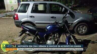 Motorista e motociclista sem CNH se envolvem em acidente - Acidente aconteceu no sábado (5), em Loanda.