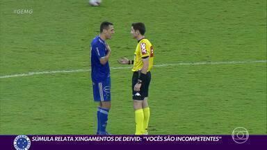 Dirigente do Cruzeiro é citado na súmula pelo árbitro que apitou na derrota para o CRB - Dirigente do Cruzeiro é citado na súmula pelo árbitro que apitou na derrota para o CRB