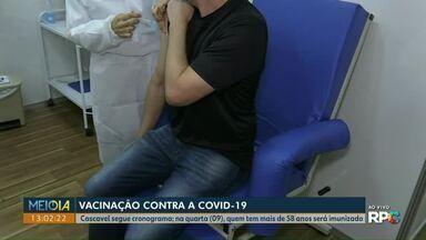 Cascavel segue cronograma de vacinação contra a Covid-19 - Na quarta (09), quem tem mais de 58 anos será imunizado; cidades da região também começaram a vacinar público em geral.