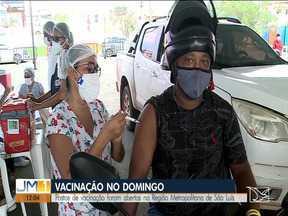 Covid-19: postos de vacinação foram abertos na Ilha São Luís - Moradores de São José de Ribamar e Paço do Lumiar com idade acima de 38 anos puderam se vacinar no fim de semana e o posto vai funcionar nesta segunda (7) até as 20h.