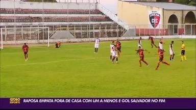 Campinense empata jogo movimentado contra o Caucaia, pela Série D do Brasileiro - Resultado final da partida foi de 3 a 3