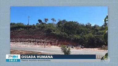 Ossada humana é encontrada próximo ao rodoanel de Teresina - Ossada humana é encontrada próximo ao rodoanel de Teresina