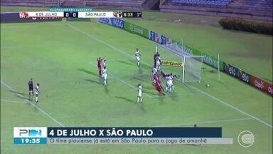 Jogadores do 4 de Julho já estão em São Paulo para enfrentar o tricolor nesta terça (8) - Jogadores do 4 de Julho já estão em São Paulo para enfrentar o tricolor nesta terça (8)