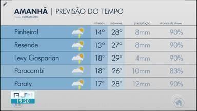 Terça-feira será de tempo instável na região - Veja como ficam os termômetros em cinco cidades.