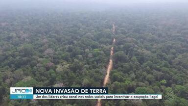 Nova invasão de terra área de preservação em RO - Invasores anunciam venda de terras na Floresta Nacional do Jacundá, em Itapuã do Oeste.