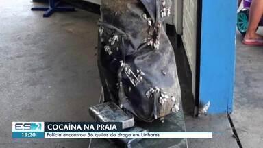 Polícia encontra 36 kg de cocaína em Linhares, Norte do ES - Assista.