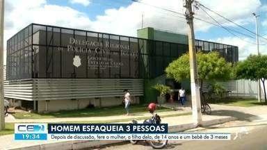 Homem que esfaqueou três pessoas em Iguatu segue foragido - Confira mais notícias em g1.globo.com/ce