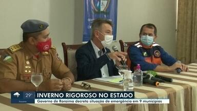Estado decreta situação de emergência em nove municípios - Inverno rigoroso alaga estradas e deixa dezenas de famílias ilhadas em Roraima.