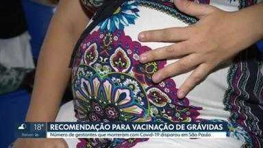 Associação médica recomenda vacinação de grávidas contra Covid-19 - Número de gestantes que morreram com Covid-19 disparou em São Paulo