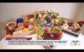 Estado de SP projeta crescimento de até 7,6% para 2021 - Confira a reportagem exibida pelo Jornal Vanguarda.