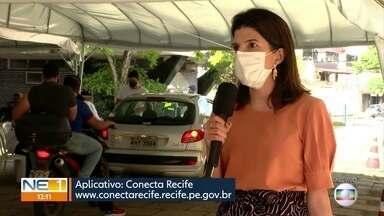 No Recife, quem tem 43 anos ou mais já pode tomar a vacina contra a Covid-19 - O cadastro é feito pelo aplicativo da prefeitura, o Conecta Recife.