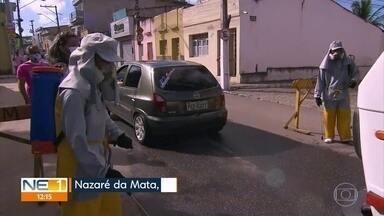 Pessoas que têm entre 30 e 39 anos são as que mais estão pegando Covid, em Nazaré da Mata - De acordo com aSecretaria de Saúde do município, o pico da doença foi no mês de fevereiro. com 198 casos.
