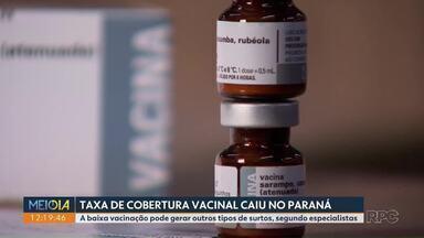 Taxa de cobertura vacinal despencou no Paraná - A queda pode gerar outros tipos de surtos, segundo especialistas.