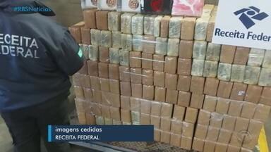 Polícia apreende contêiner com mais de uma tonelada de cocaína em Rio Grande - Carga de 1.133 kg de cocaína deveria ser enviada para a Bélgica.
