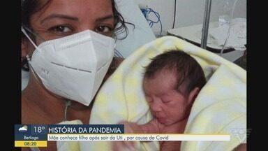 Mãe conhece filha após sair da UTI, por causa da Covid-19 - Simone Alves Soares contou como foi esse momento.