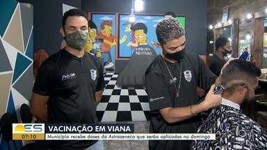 Vacinação em Viana: cidade recebe doses de Astrazeneca que serão aplicadas domingo - Assista a seguir.