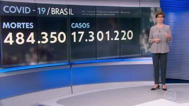 Brasil registra 2.215 mortes por Covid-19 em 24 horas - A média móvel subiu para 1.912 óbitos por dia, uma alta de 4% em 14 dias, o que é considerado estabilidade pelos especialistas.