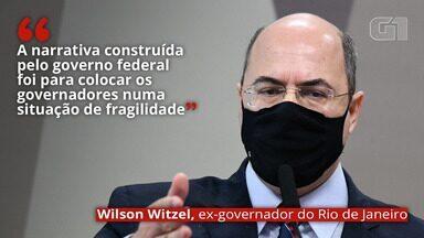 VÍDEO: 'A narrativa construída pelo governo federal foi para colocar os governadores numa situação de fragilidade', diz Witzel