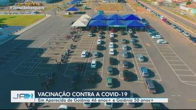 Aparecida de Goiânia vacina moradores acima de 46 anos contra a Covid-19 - Já em Goiânia, a faixa etária é de 50 anos.
