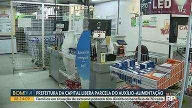 Prefeitura de Curitiba libera parcela do auxílio-alimentação - Famílias em situação de extrema pobreza têm direito ao benefício de 70 reais.