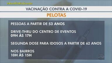 Vacina contra Covid-19: veja quem pode ser vacinado no Sul do RS - Confira quem pode receber as doses nesta quarta-feira (23).