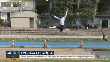 A um mês da Olimpíada, atletas gaúchos já estão em contagem regressiva - Assista ao vídeo.