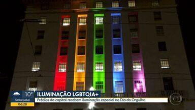 Prédios de SP ficam iluminados - Novas luzes foram instaladas em comemoração ao Dia Internacional do Orgulho LGBTQIA+.
