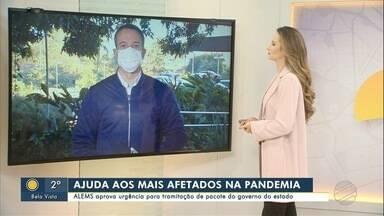 Assembleia aprova tramitação em urgência de pacote de ajuda do governo - Pacote tem uma série de ações para ajudar os setores mais prejudicados com a pandemia.