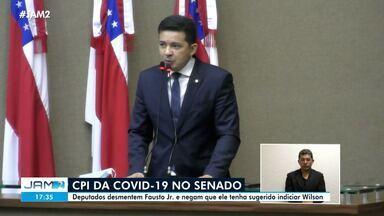 Deputados desmentem Fausto Jr. e negam que ele tenha sugerido indiciar Wilson - Deputados desmentem Fausto Jr. e negam que ele tenha sugerido indiciar Wilson