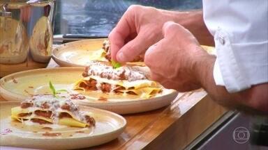 Chefs preparam lasanhas para conquistar vaga na repescagem - Confira como foi o processo de preparação dos pratos