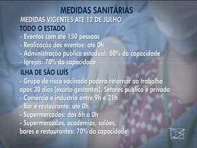 Governo faz ligeira flexibilização das medidas sanitárias no Maranhão - Novas medidas serão válidas até 12 de julho.
