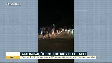 Cerca de 200 pessoas se aglomeram em festa, em Morrinhos - Confira outros eventos clandestinos flagrados neste final de semana que proliferam o coronovaírus e adiam o fim da pandemia.