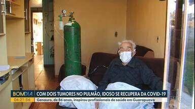 Homem de 86 anos e com tumores no pulmão sobrevive à covid - O senhor Genauro foi uma inspiração pros profissionais de saúde