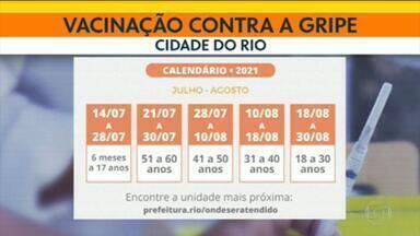Campanha de vacinação contra gripe - Campanha de vacinação contra a gripe é ampliada para atender. Público em geral começa a ser vacinado na semana que vem no Rio.